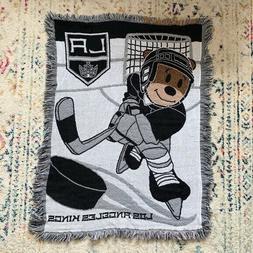 NEW NHL LOS ANGELES LA KINGS HOCKEY BEAR KNIT FRINGE PLUSH S