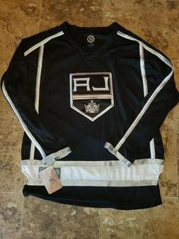 New Mens Los Angeles Kings LA NHL Black Jersey Long Sleeve S
