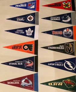 "NEW NHL Hockey Teams Mini Pennants 4""x9"" New Rico"