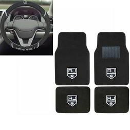 New NHL Los Angeles LA Kings Car Truck Carpet Floor Mats & S