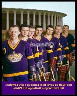 NHL 1968 Los Angeles Kings Terry Sawchuk and Mates Outside F