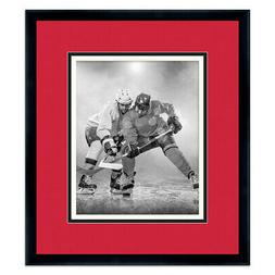NHL Classic Black Wood Photo Frame with a Teams Colors Tripl