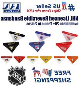 NHL Licensed Dog Bandana! NEW Reversible Pet Bandana - 2 sid