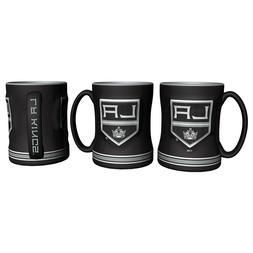 NHL Los Angeles King Coffee Mug 14oz Sculpted Relief Boelter