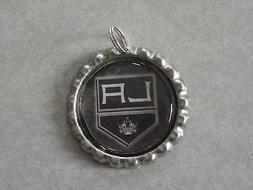 NHL Los Angeles Kings Bottle Cap Charm for keychains, & neck