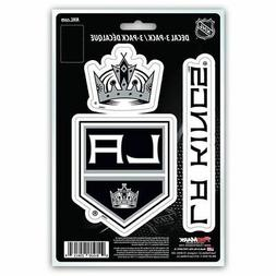 NHL Los Angeles Kings Team Decal, 3-Pack