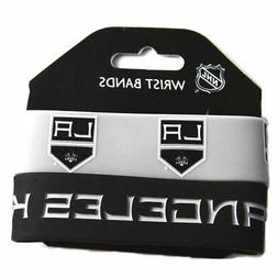 NHL Los Angeles Kings Silicone Rubber Bracelet Set, 2-Pack -