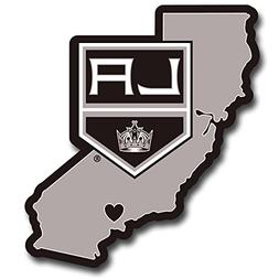 Siskiyou NHL Los Angeles KingsHome State Decal, 5""