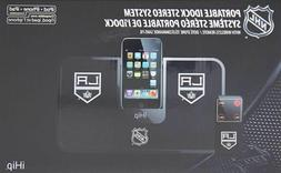 NHL Portable iDock Stereo System w/ Wireless Remote LA Kings