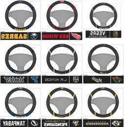 NHL Steering Wheel Covers Embroidered FANMATS Choose Team