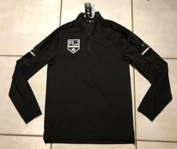 NWT ADIDAS Los Angeles Kings NHL Black Long Sleeve 1/4 Zip T