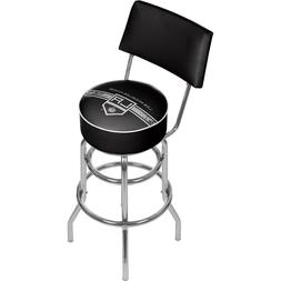 Officially Licensed - NHL Los Angeles Kings Padded Bar Stool