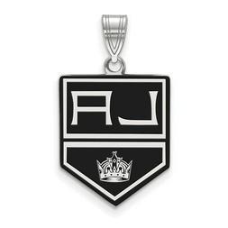 Sterling Silver NHL LogoArt Los Angeles Kings Large Enamel P