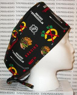 Surgical Scrub Hat Cap made w NHL Hockey Teams Fabrics You P
